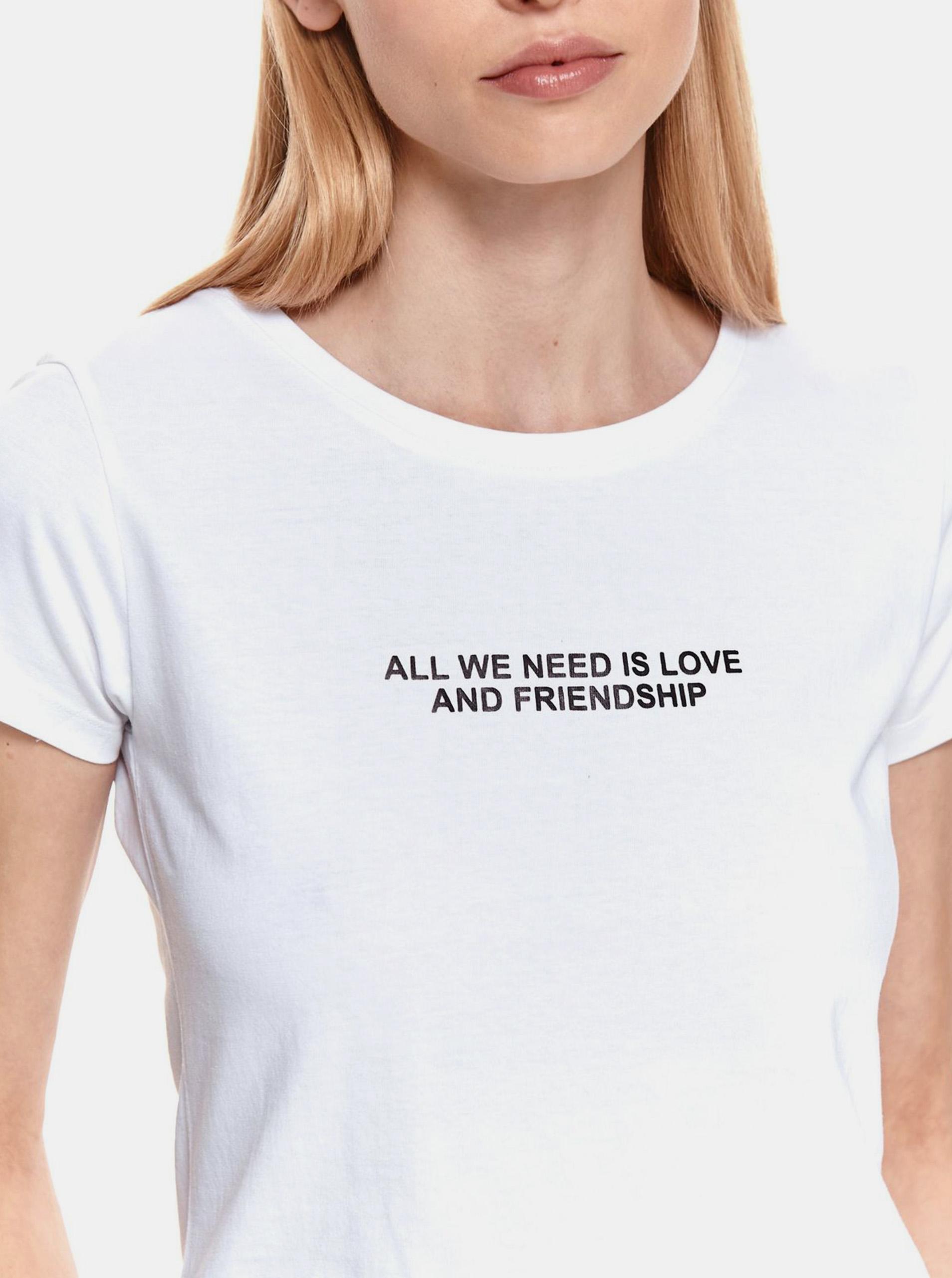 TOP SECRET bijela majica