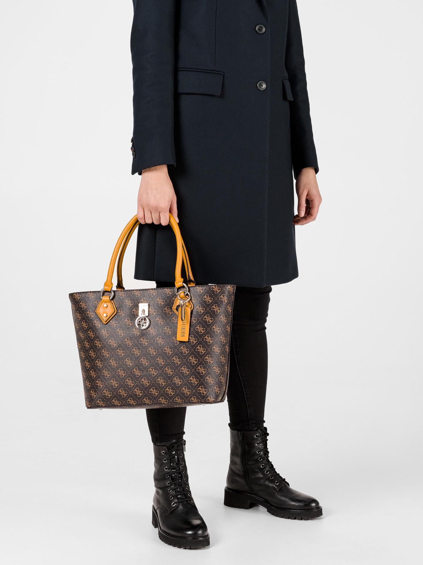 Guess smeđa torbica Jensen Society