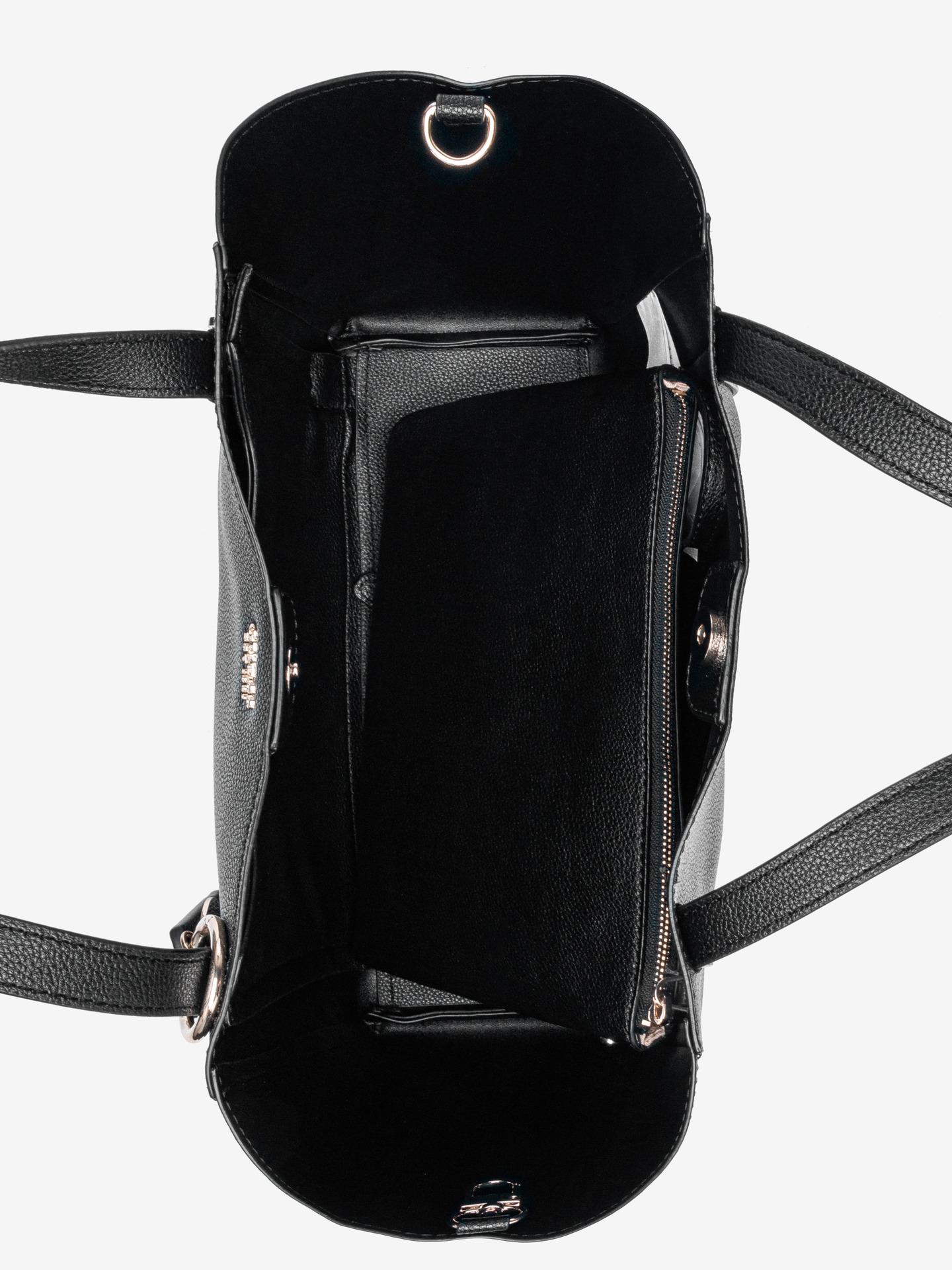 Guess crna torbica Naya Front Zip