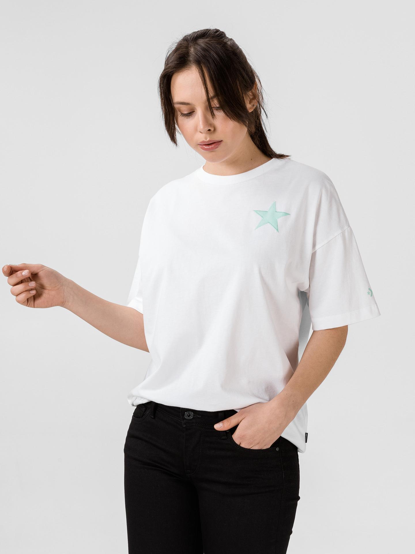 Converse bijela ženske majica Twisted Varsity