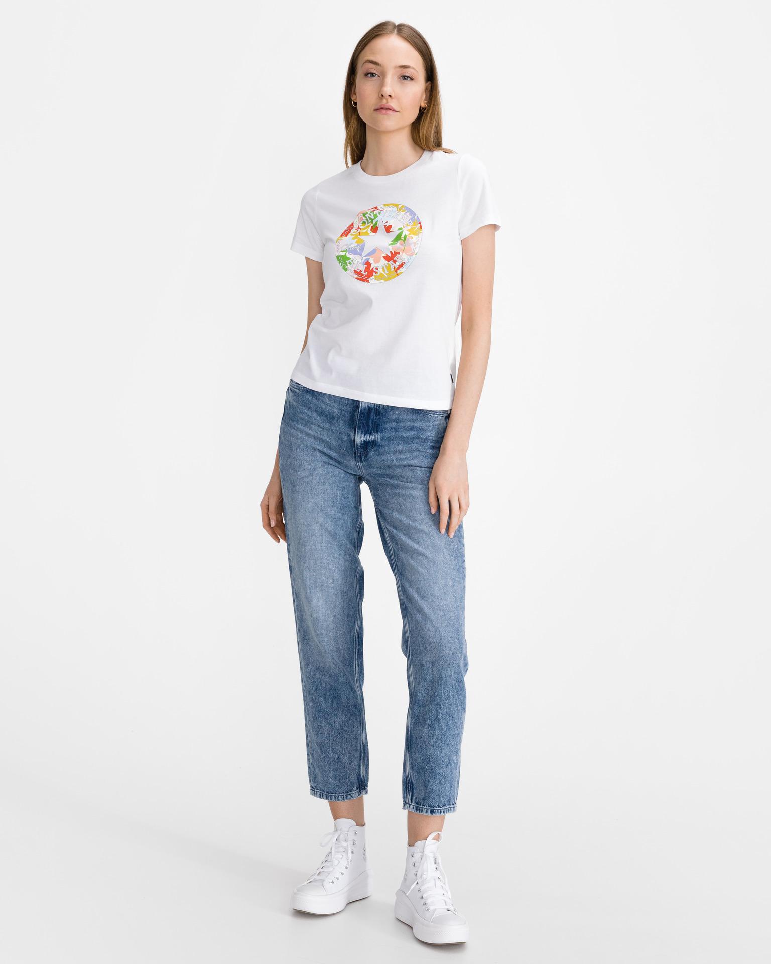 Converse bijela majica Flower Vibes Chuck Patch