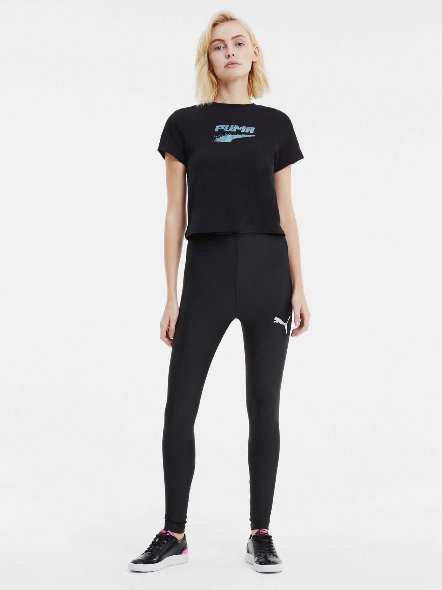 Puma crna ženske majica Evide Graphic