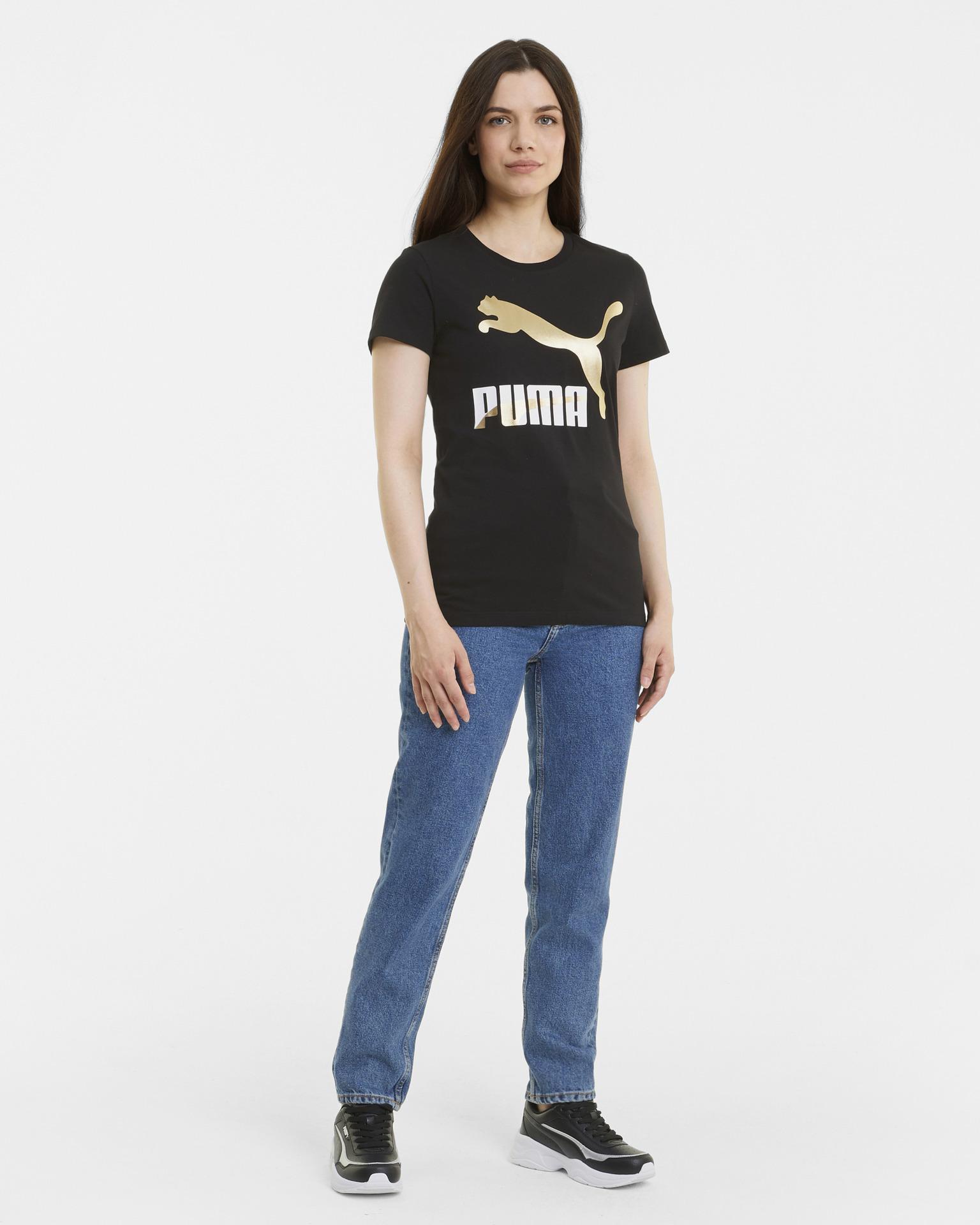 Puma crna ženske majica Classics Logo