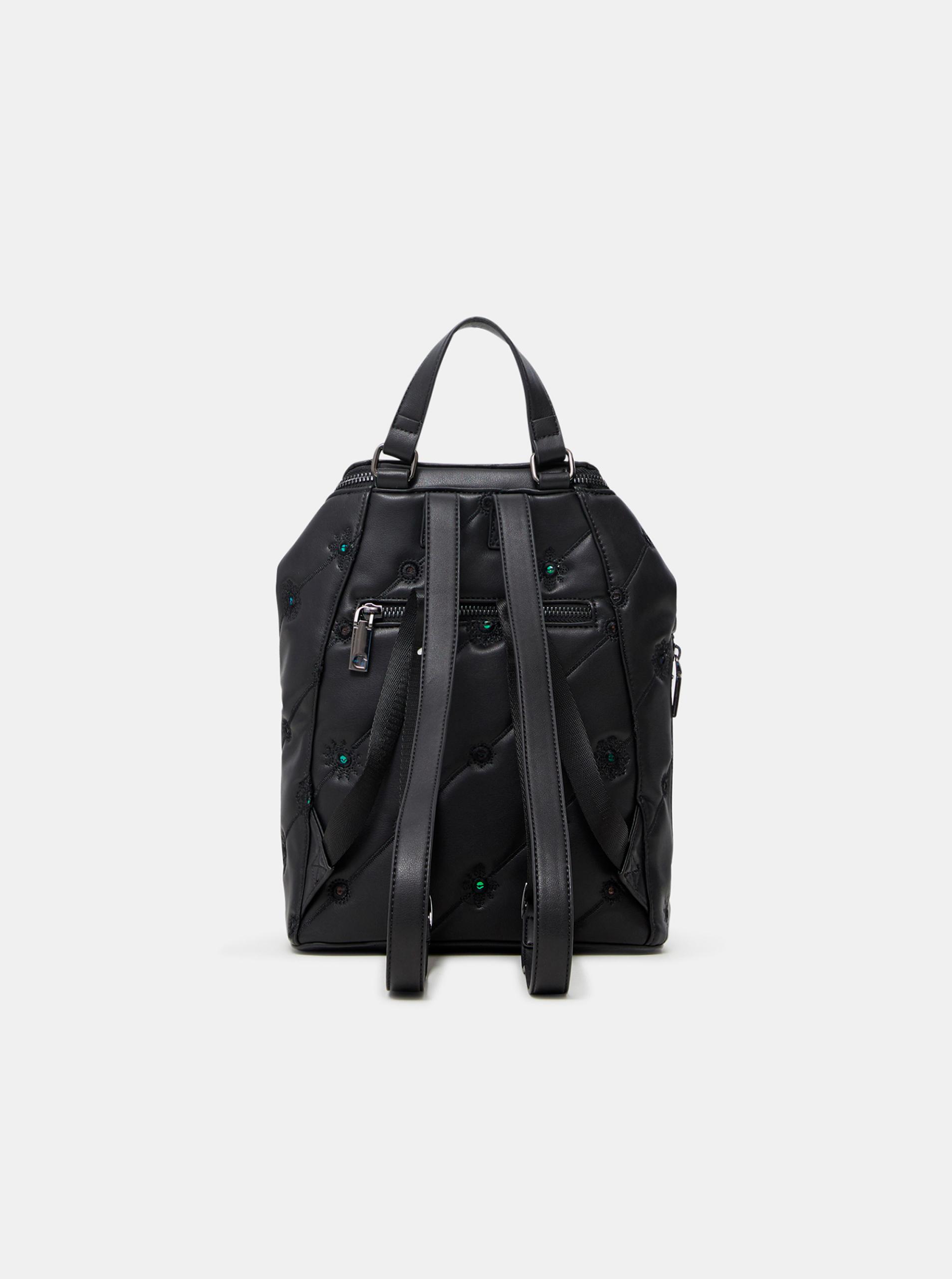 Desigual crna ruksak Ojo de Tigre Nerano Loen Mini