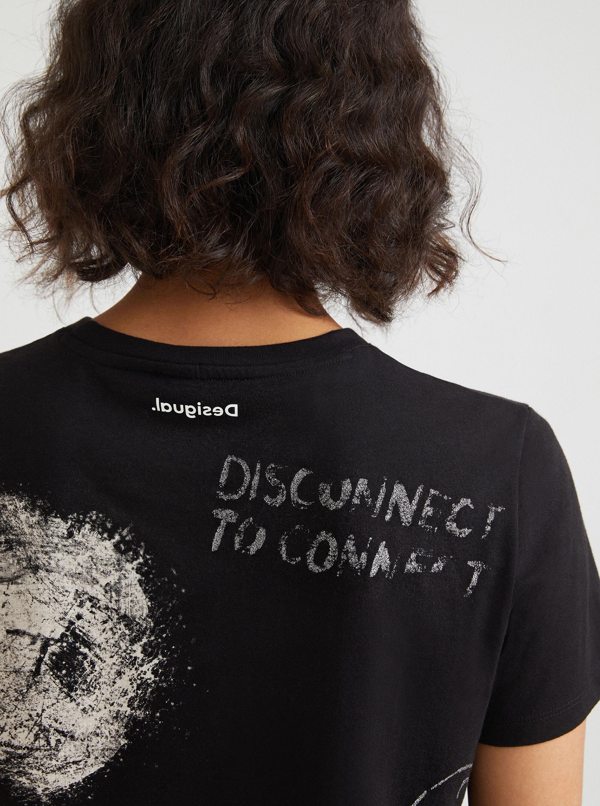 Desigual crna majica Desigual Mickey