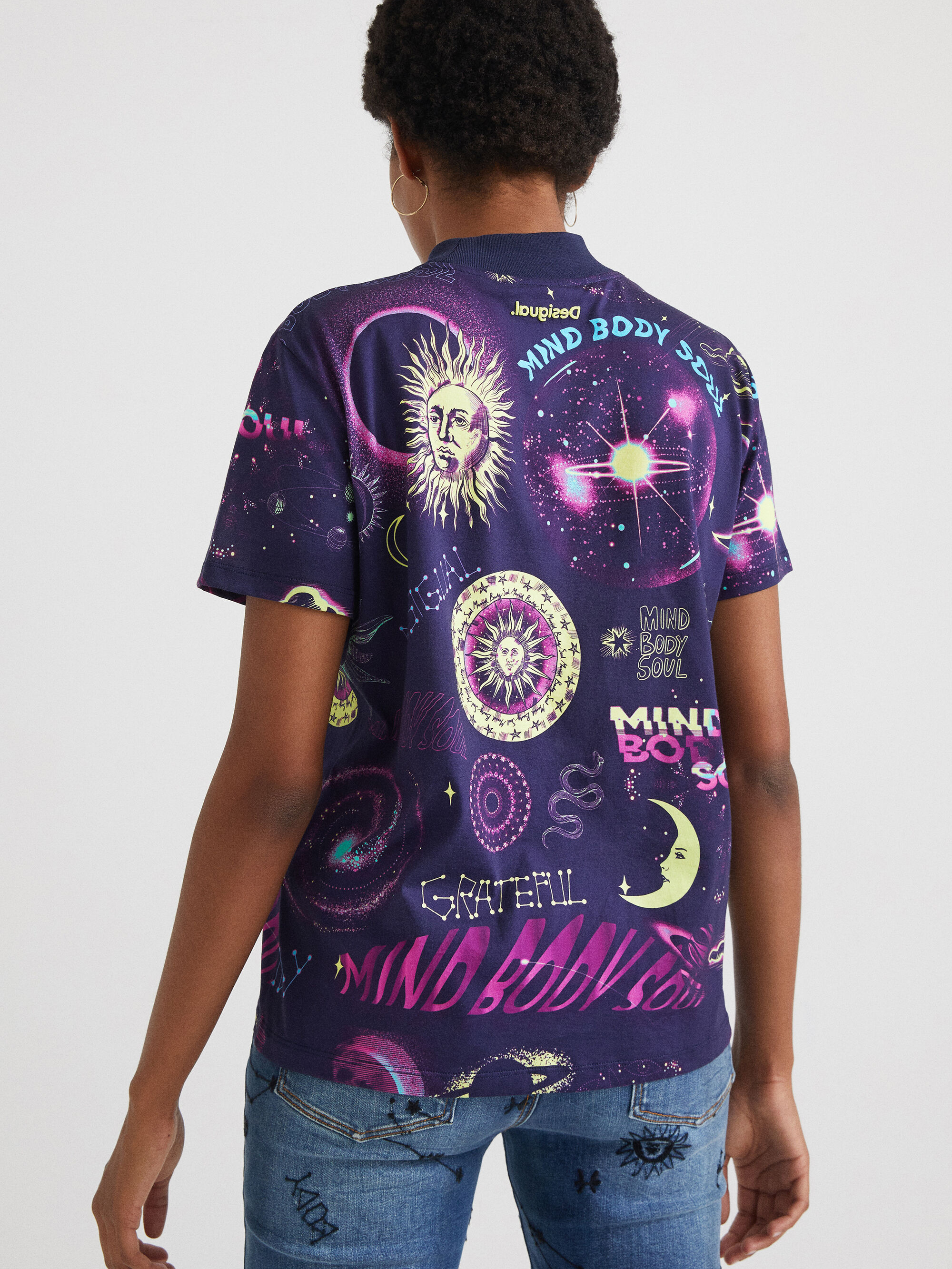 Desigual ljubičasta majica Cosmos