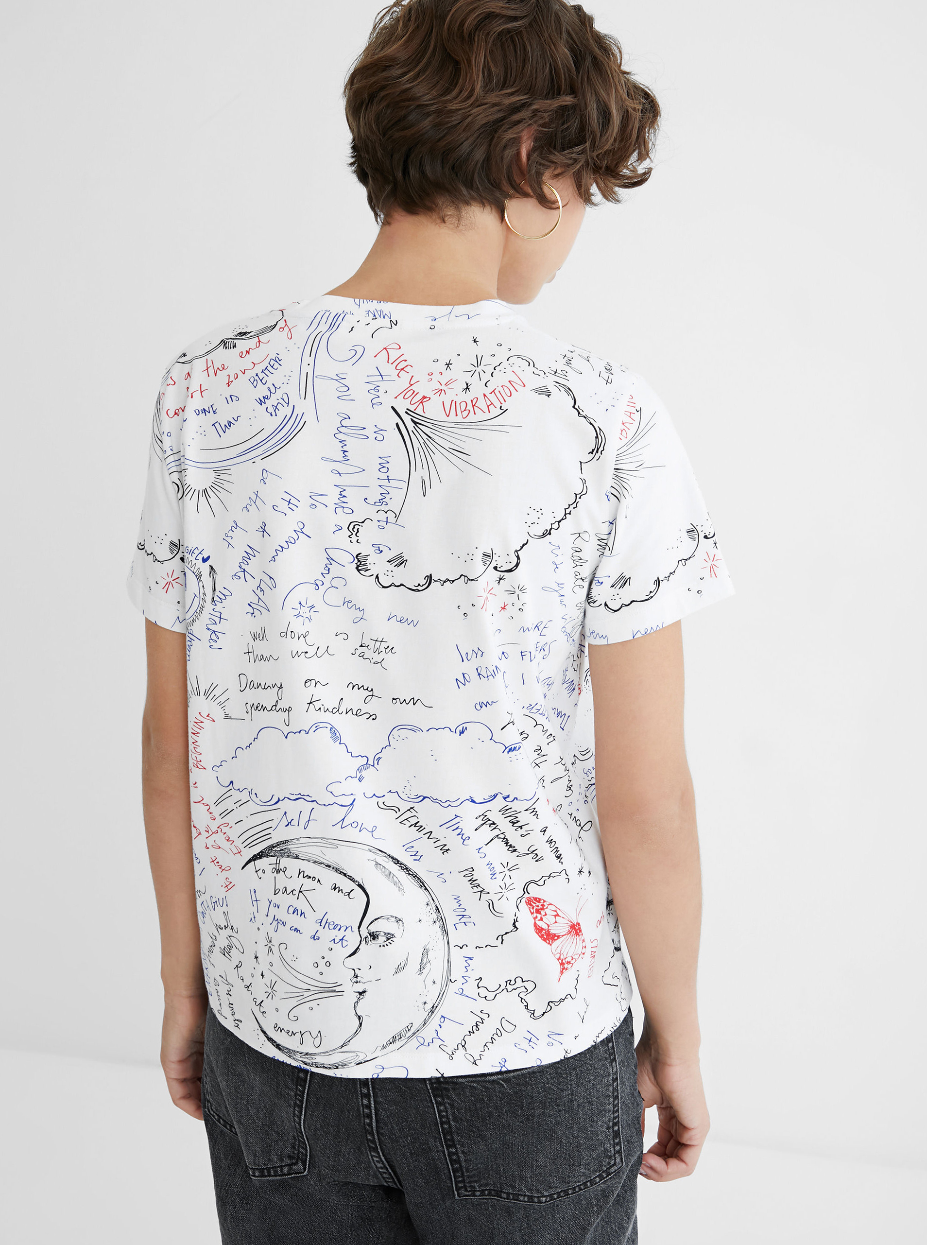Desigual bijela majica Elizabeth Fry
