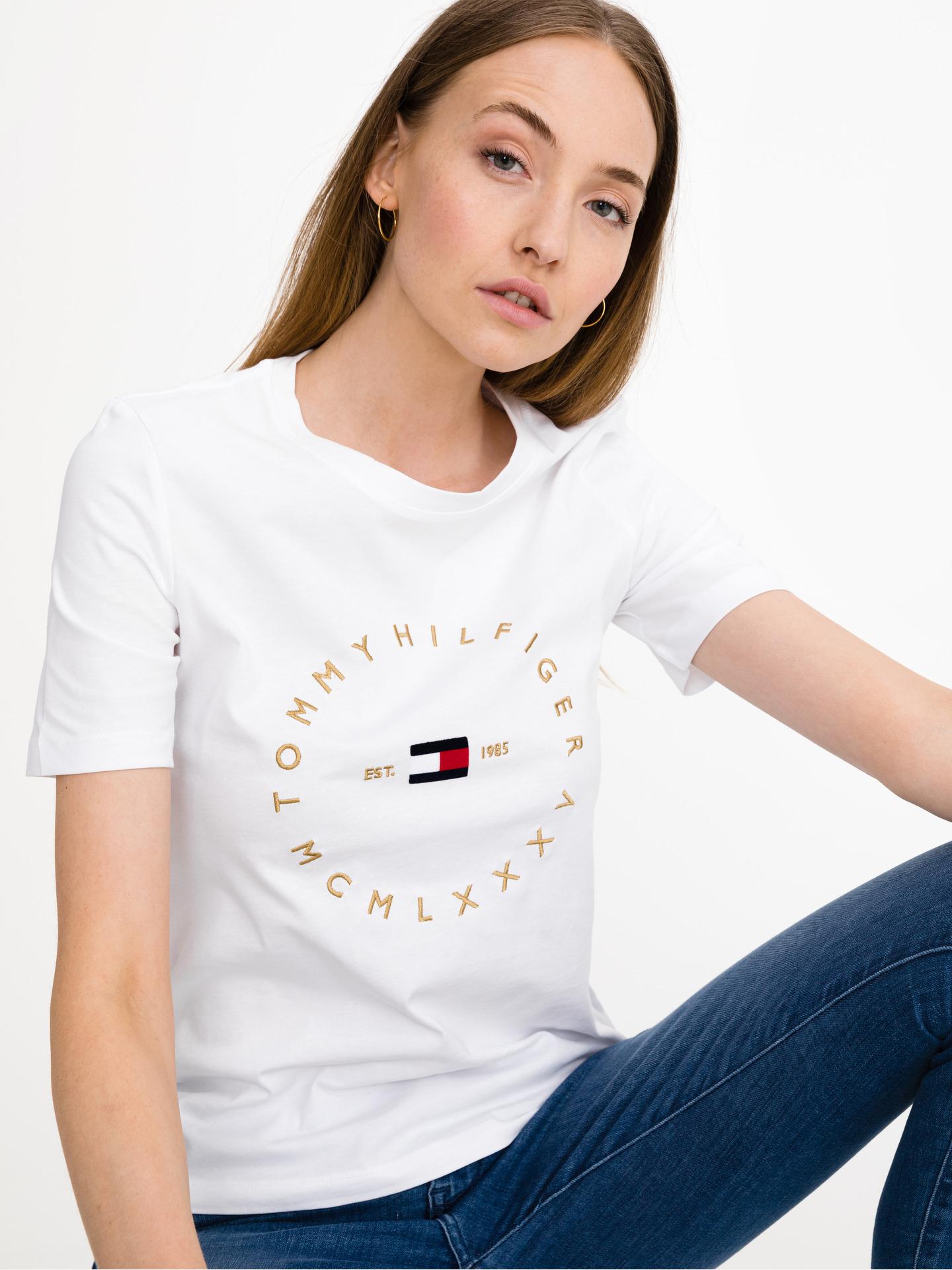 Tommy Hilfiger bijela ženske majica Round Logo