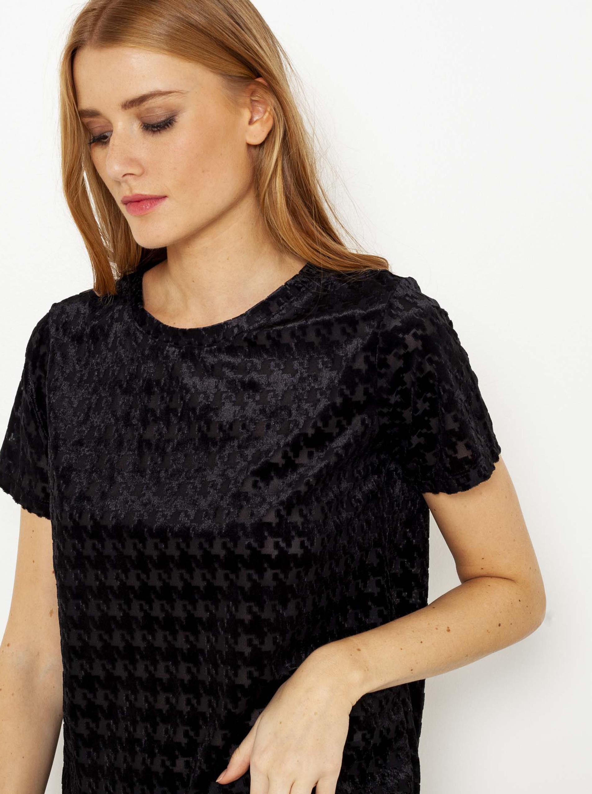 CAMAIEU crna bluza s uzorkom