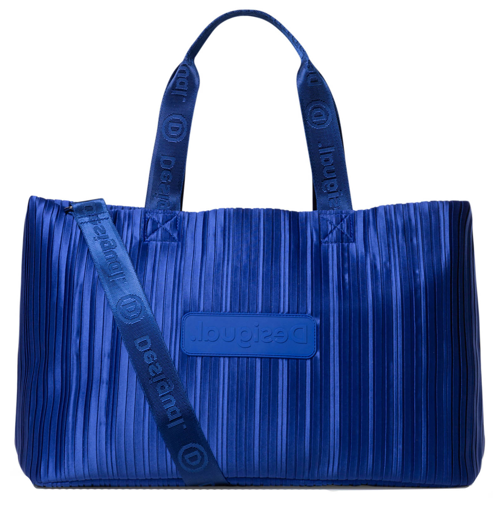Desigual plava sportski torba Duffle Bag Pleats Blue