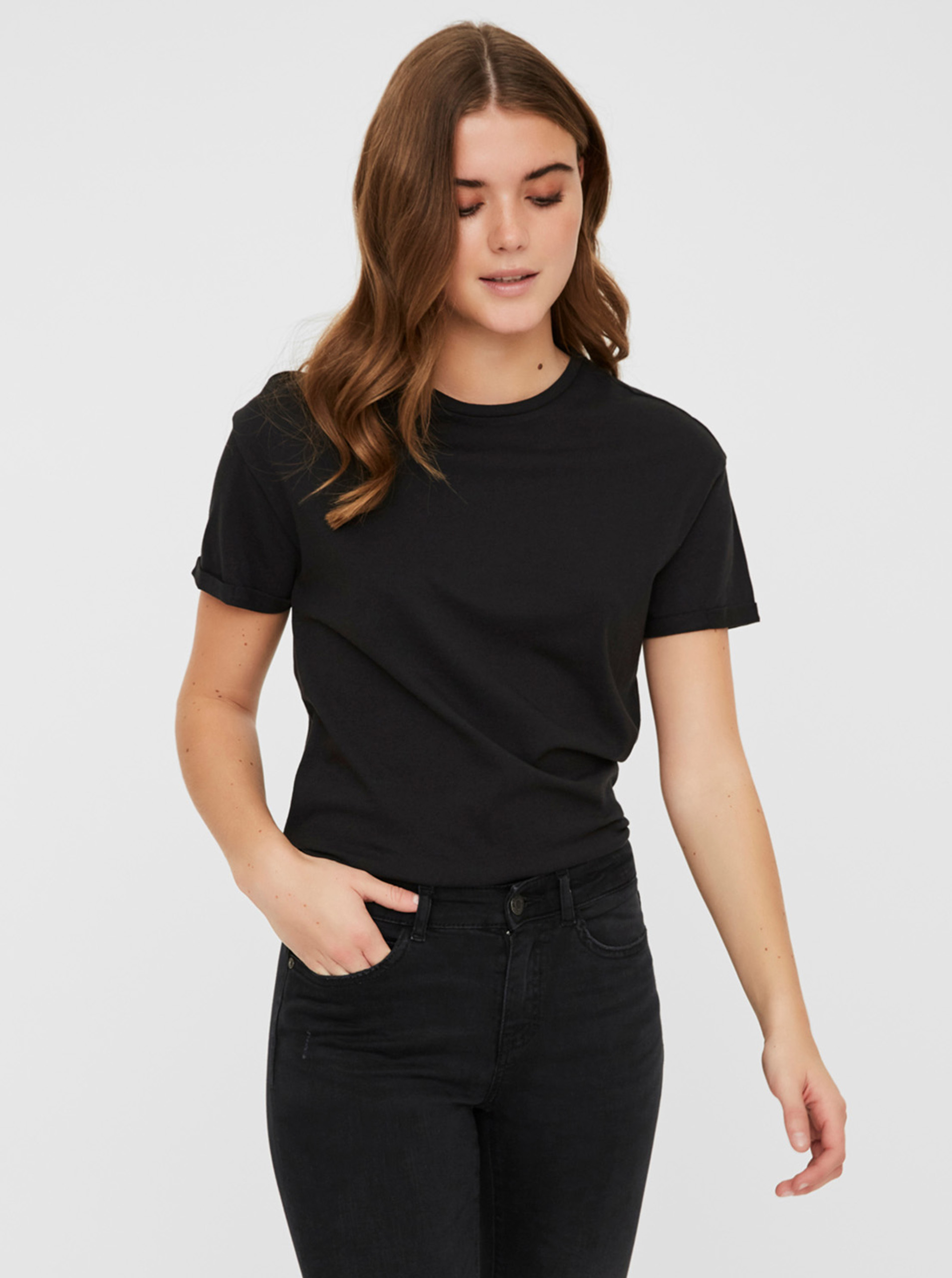Crna osnovna majica Noisy May Brandy