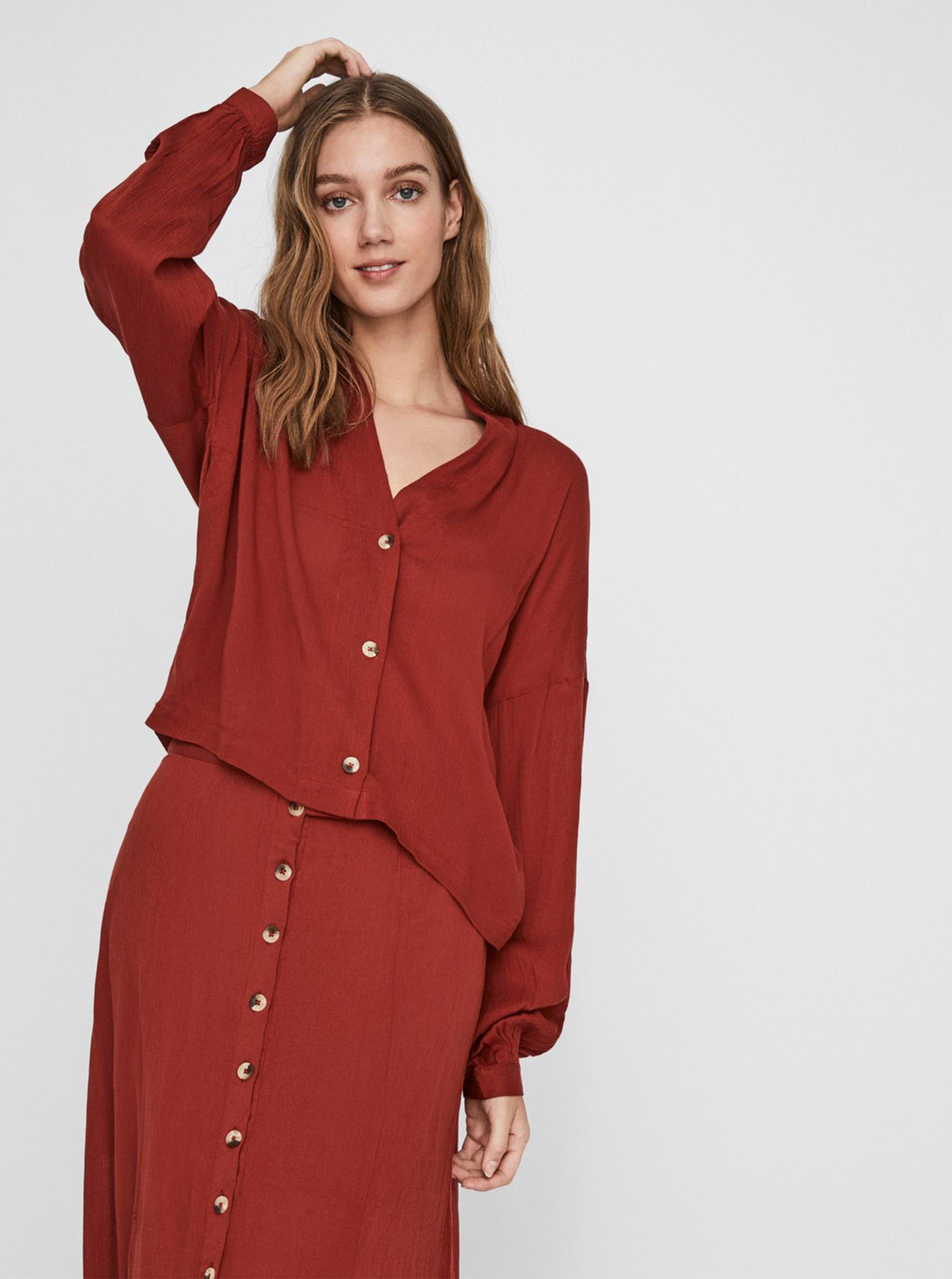 Bučna bluza May Fleur crvena