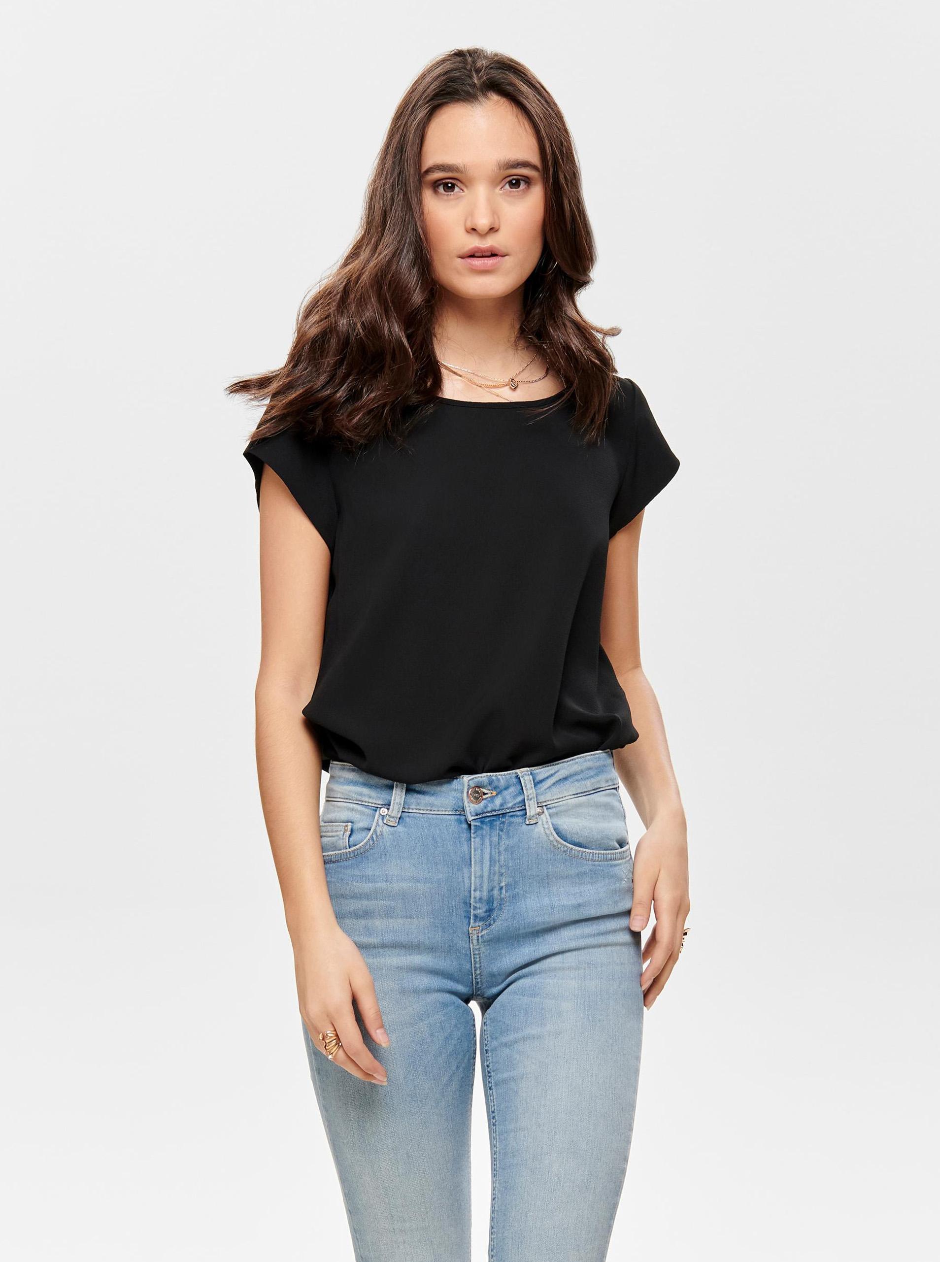 Crna bluza s patentnim zatvaračem na leđima ONLY Vic