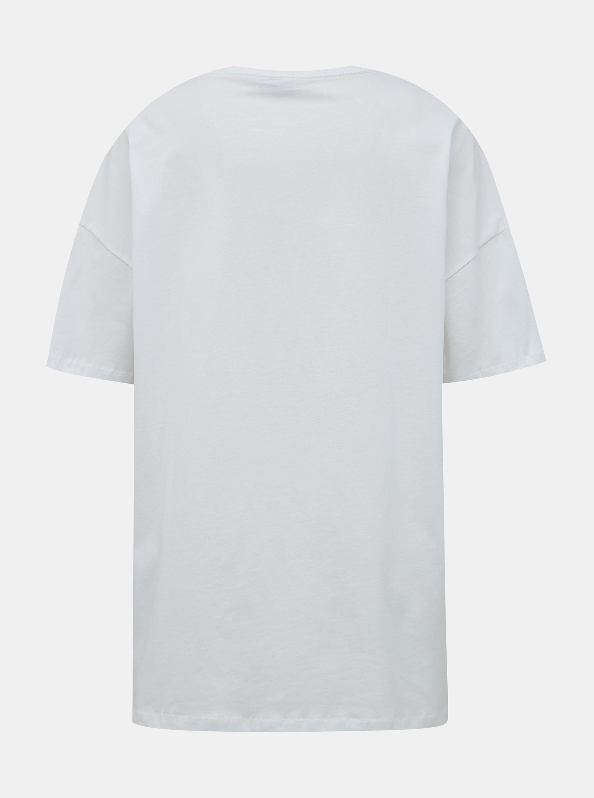Bijela majica velike veličine s printom Noisy May Ida