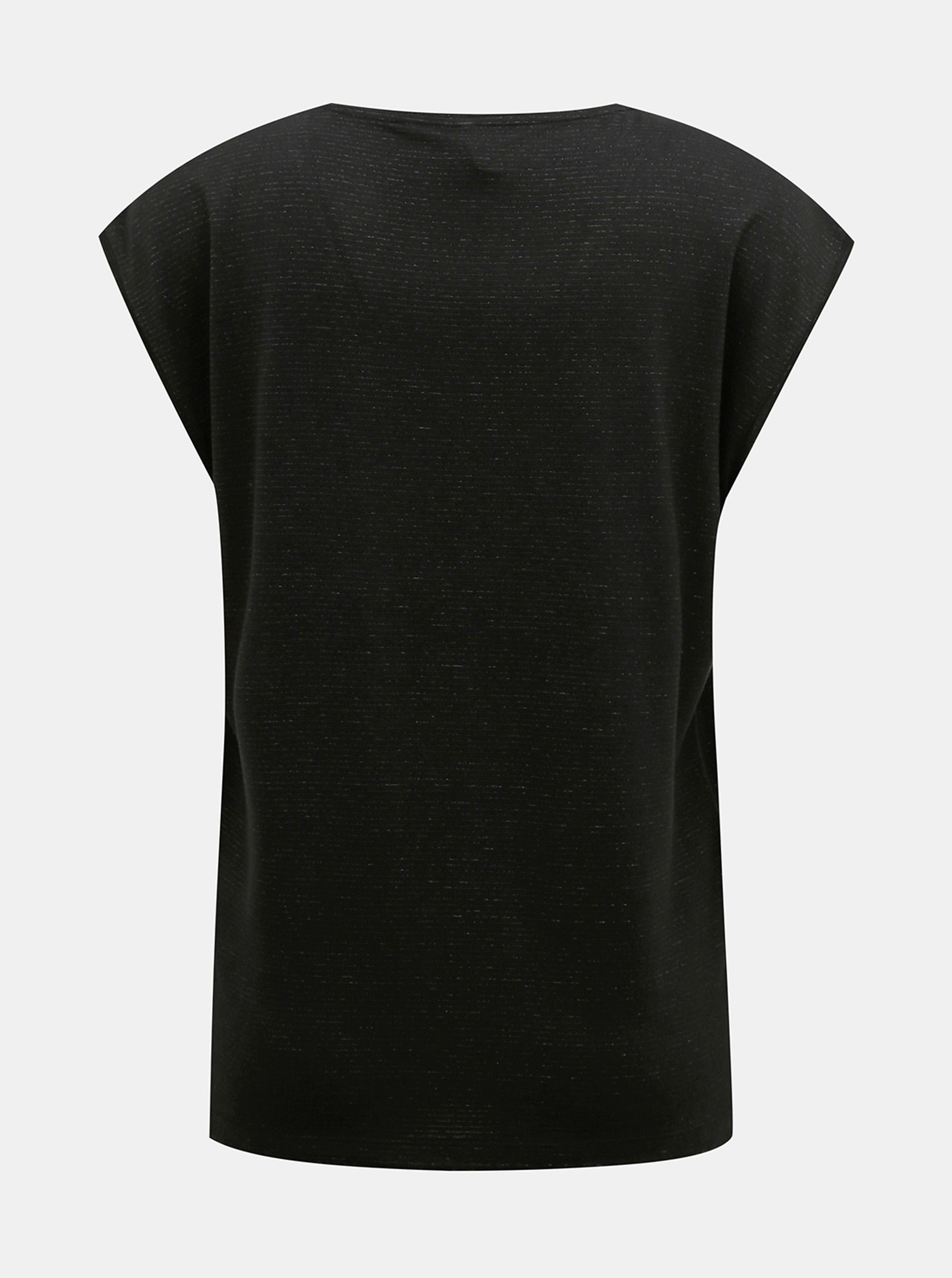 Crna majica s metalnim vlaknima komada