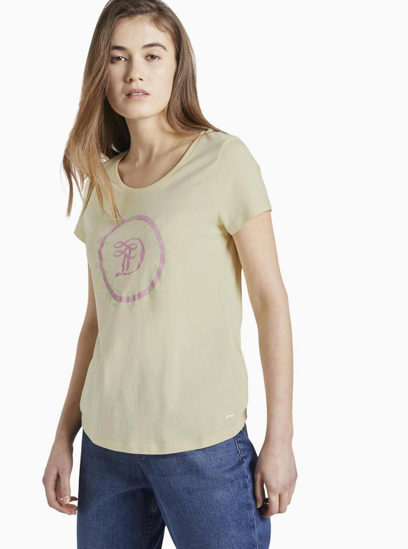 Žuta ženska majica Tom Tailor Denim