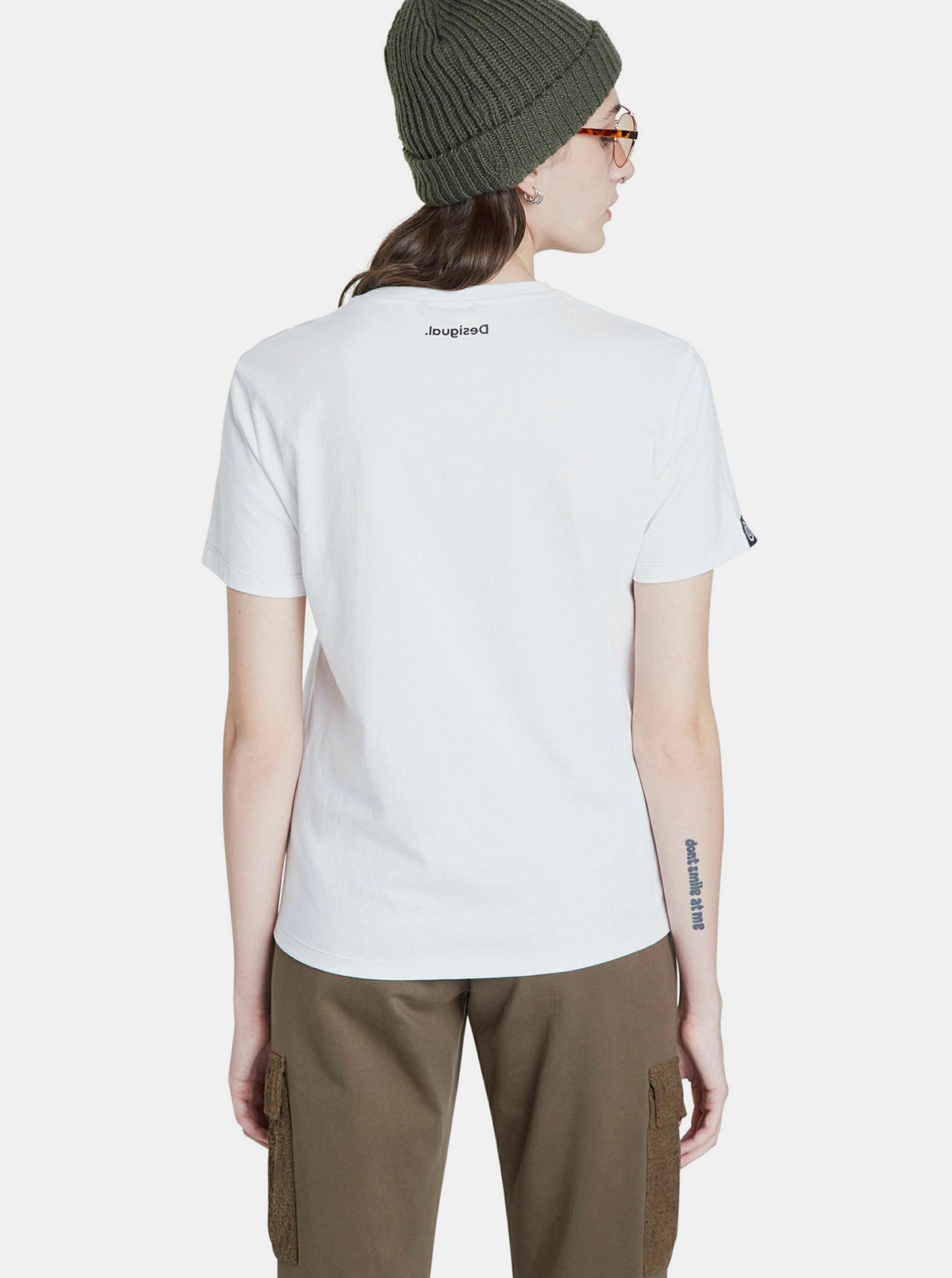 Bijela majica s printom Desigual