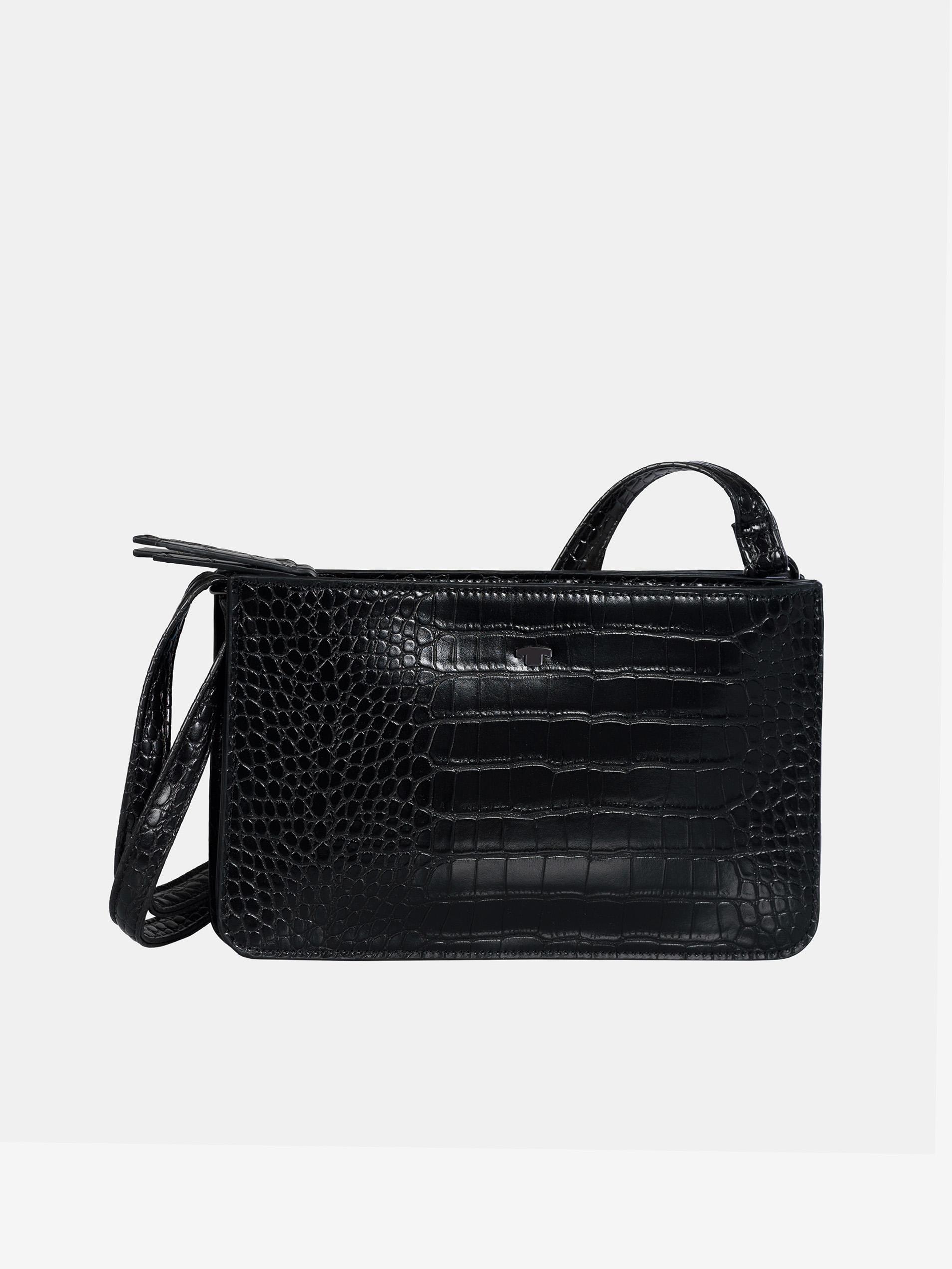 Crna torbica crossbody s krokodil uzorkom Tom Tailor