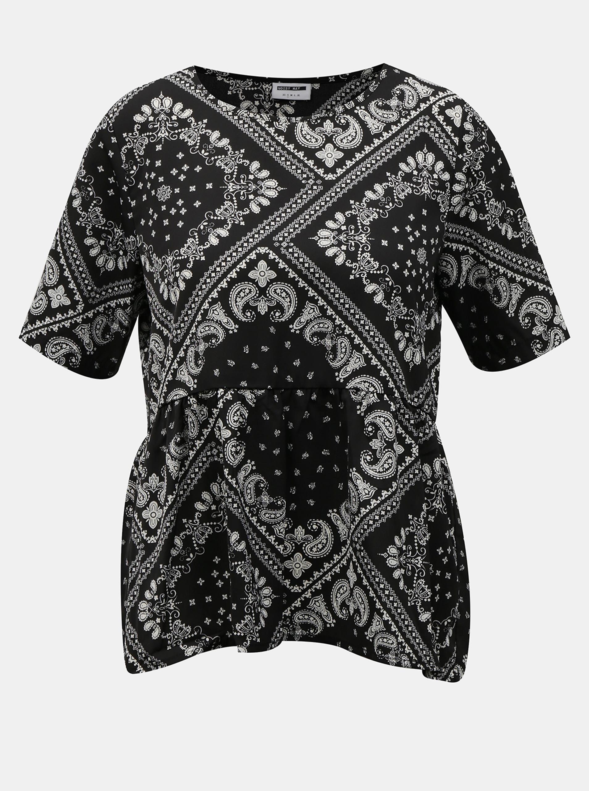 Crna bluza s uzorkom Noisy May Paise
