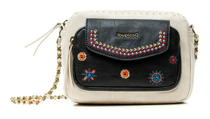 Desigual bež crossbody torbica Bols Cristal Moon Cambridge Mini