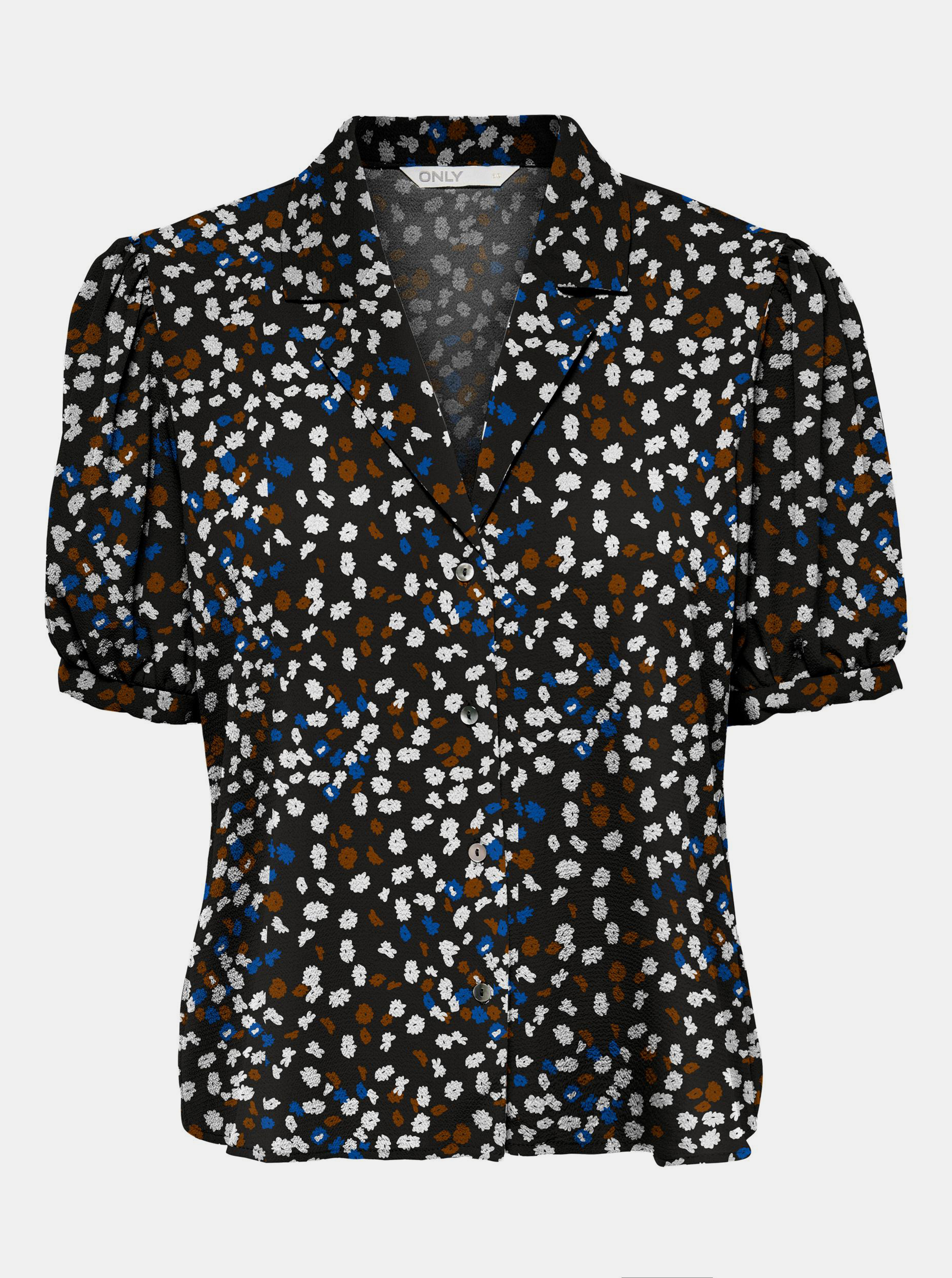 Only crna ženske bluza Nova s uzorkom