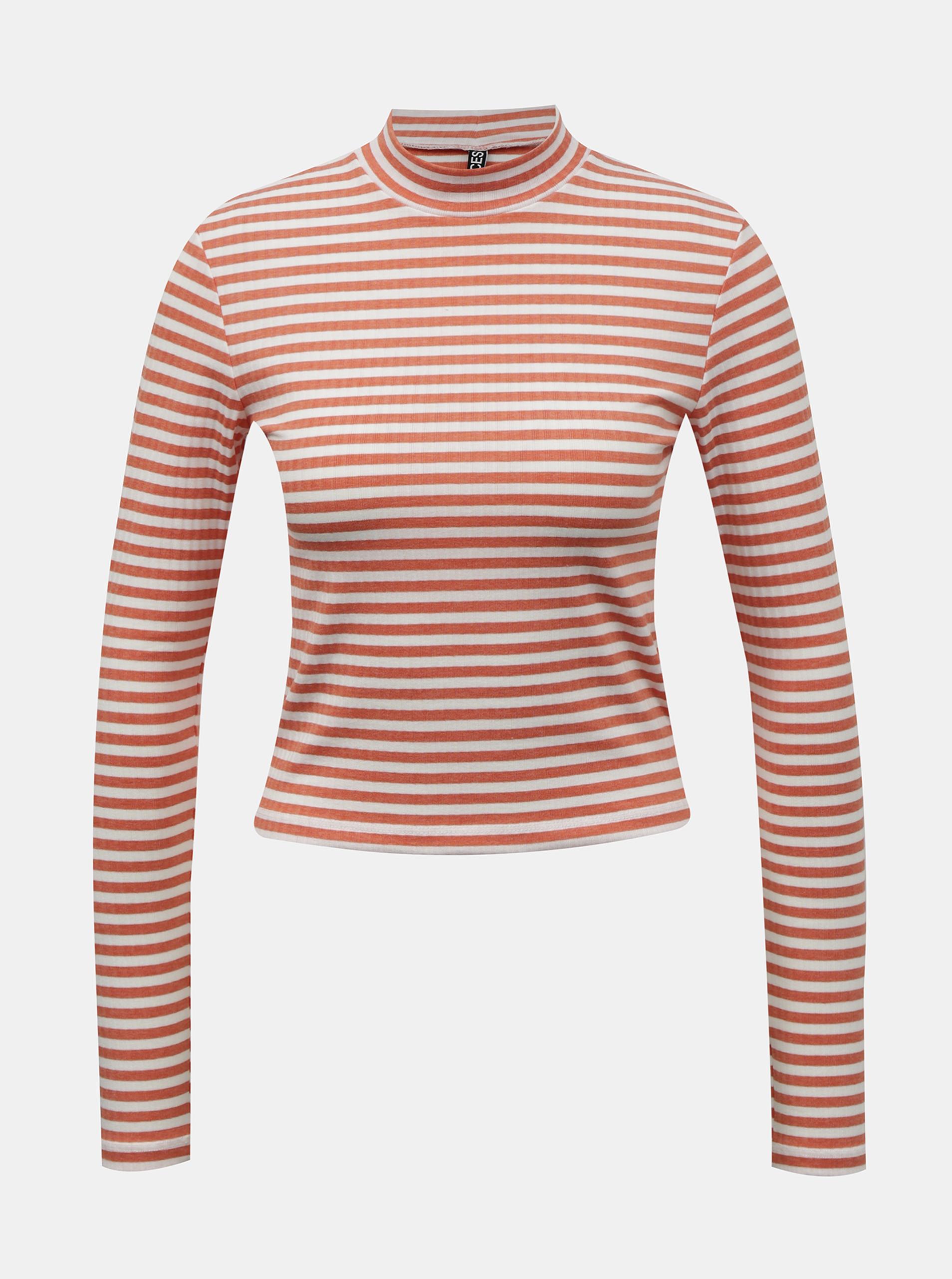 Pieces narančasta ženska majica Raya