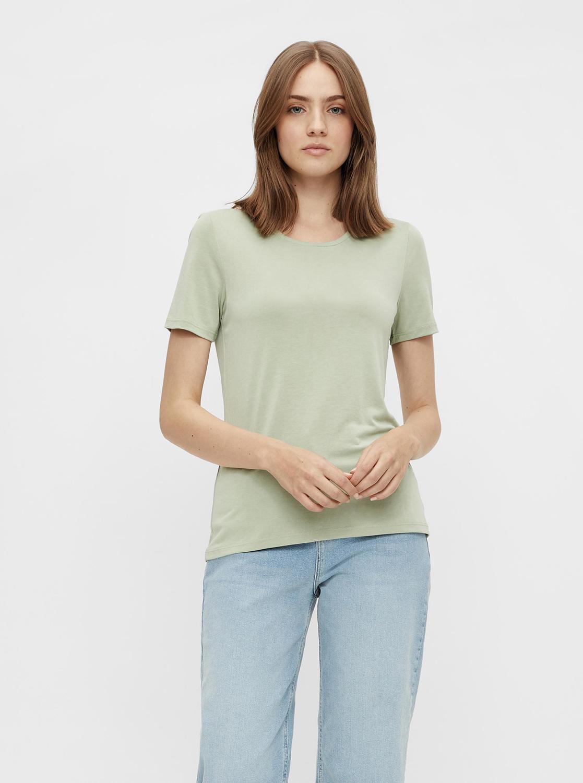 Pieces zelena basic majica Kamala